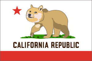 calif flag bear doge